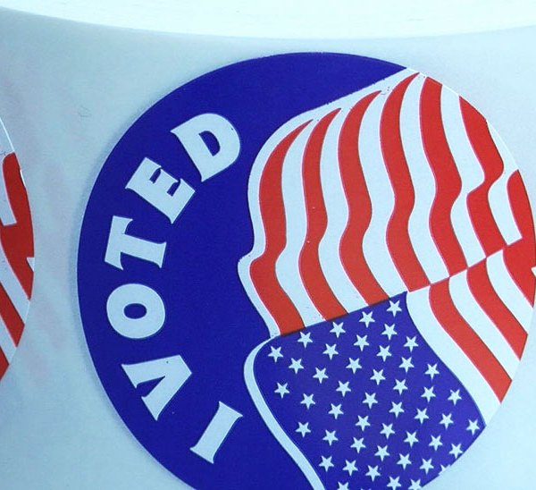 KELO voting stickers election day vote