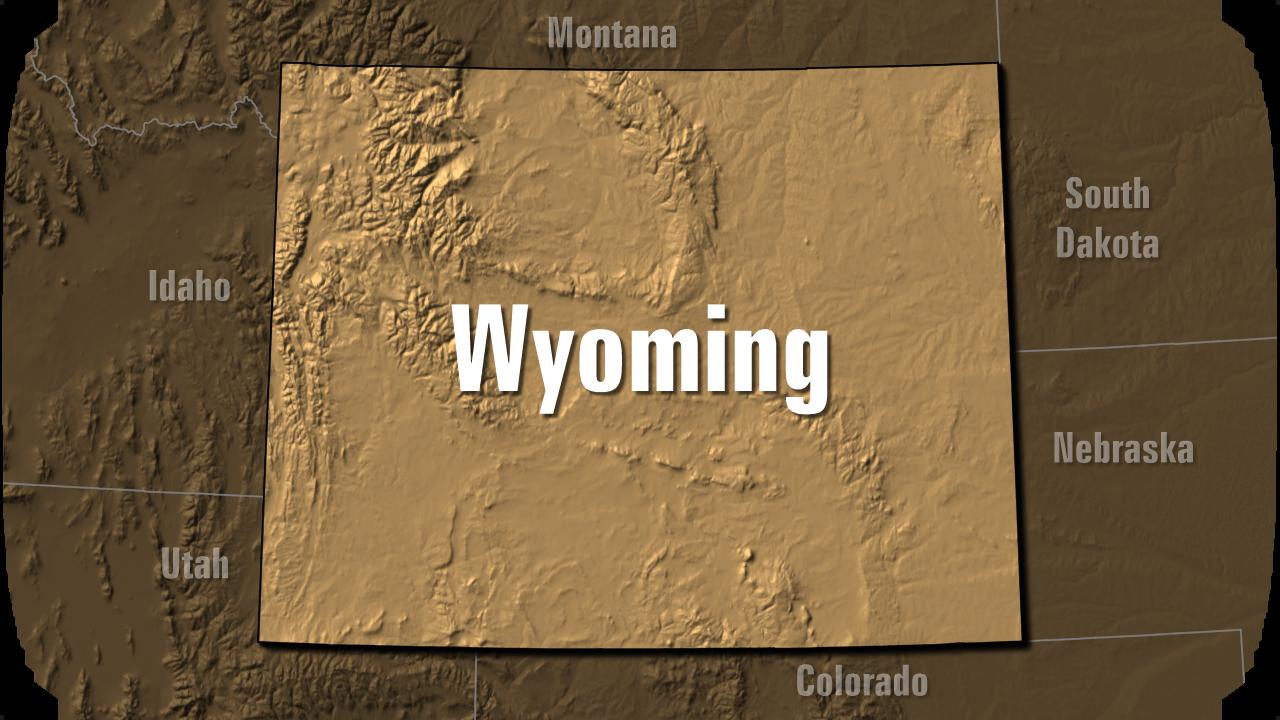 KELO Wyoming USA locator map