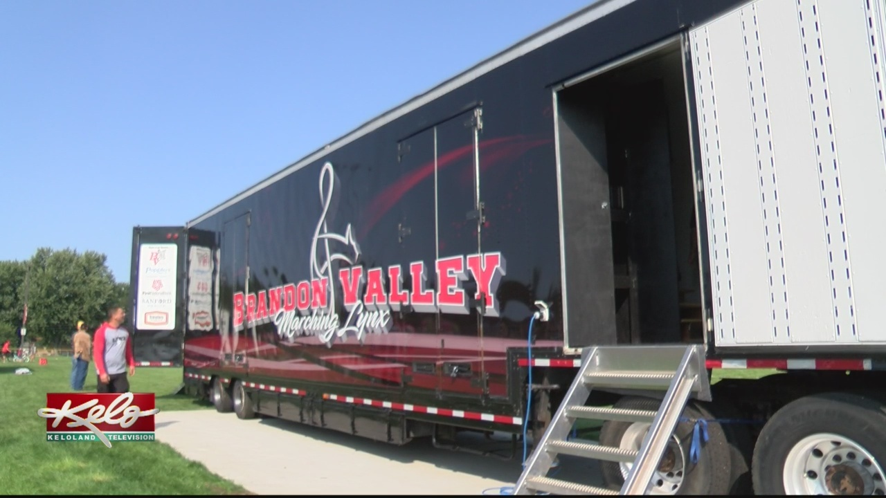 Brandon Valley Marching Band Receives New Trailer