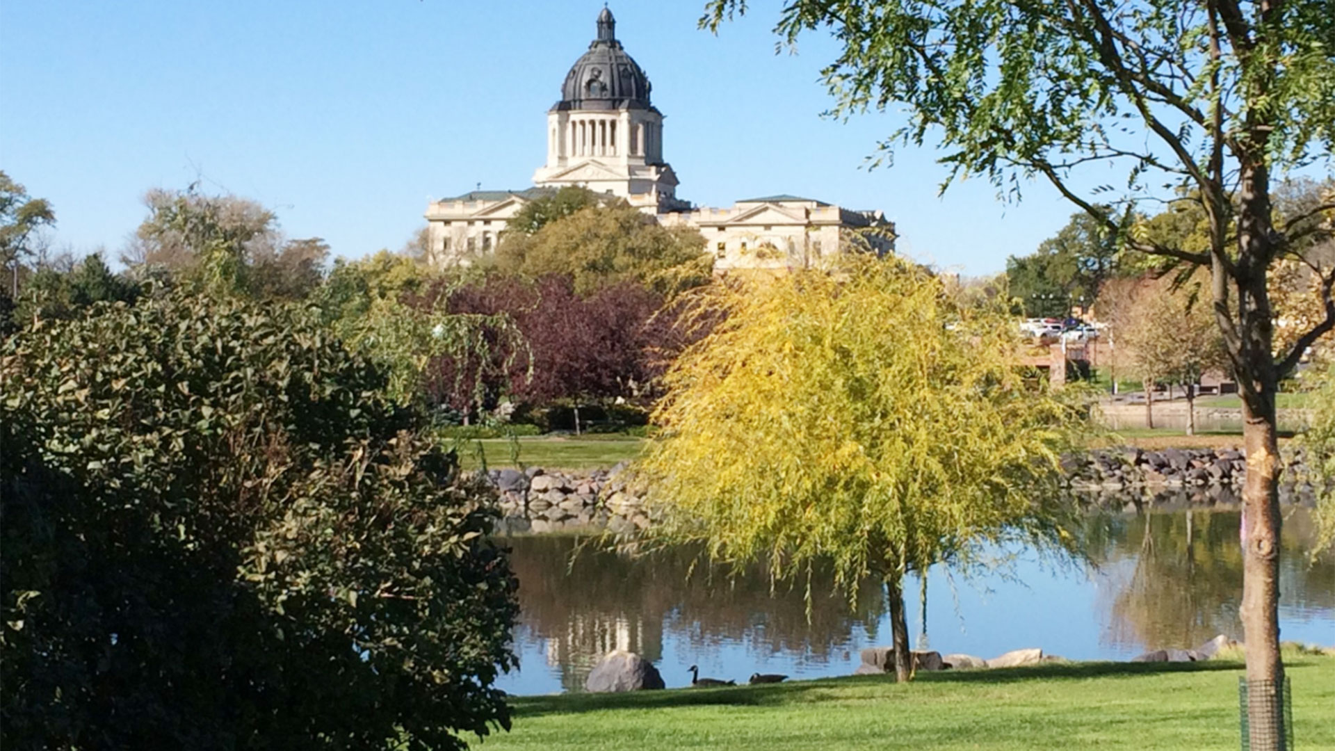 KELO Pierre capitol fall Daugaard statue location