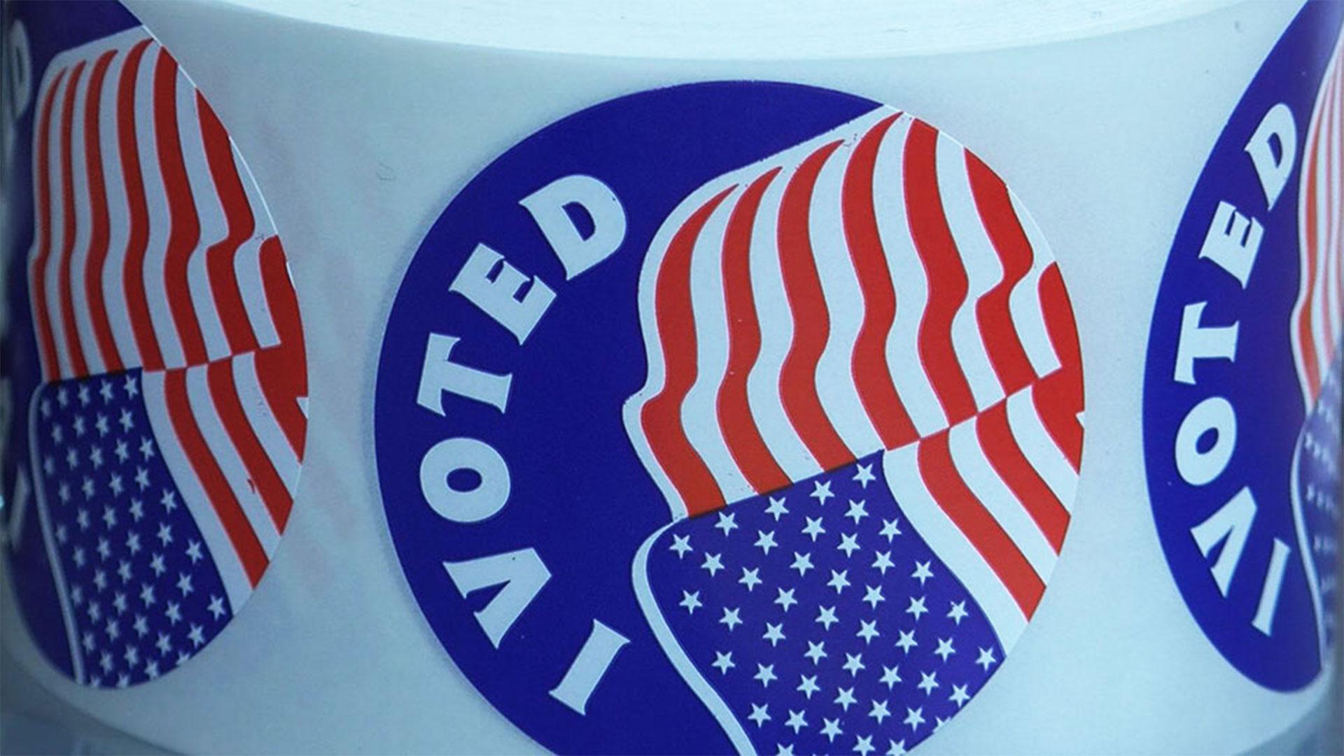 KELO voting stickers election vote