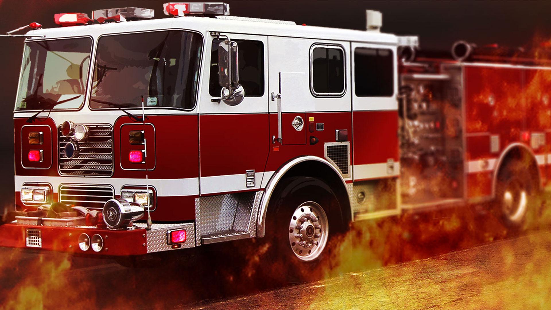 KELO fire truck flames generic