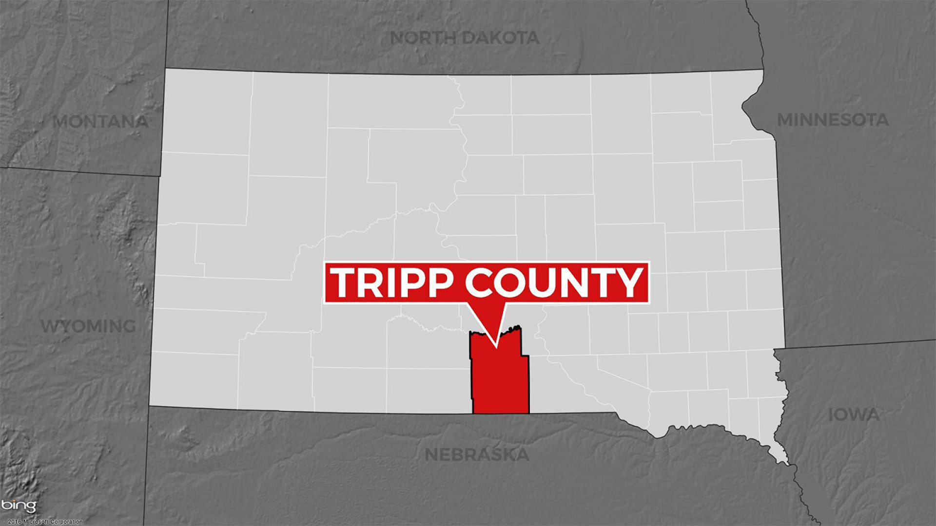 KELO Tripp County South Dakota map locator