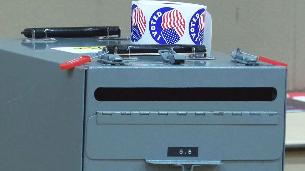 KELO voting ballot box election voters campaign