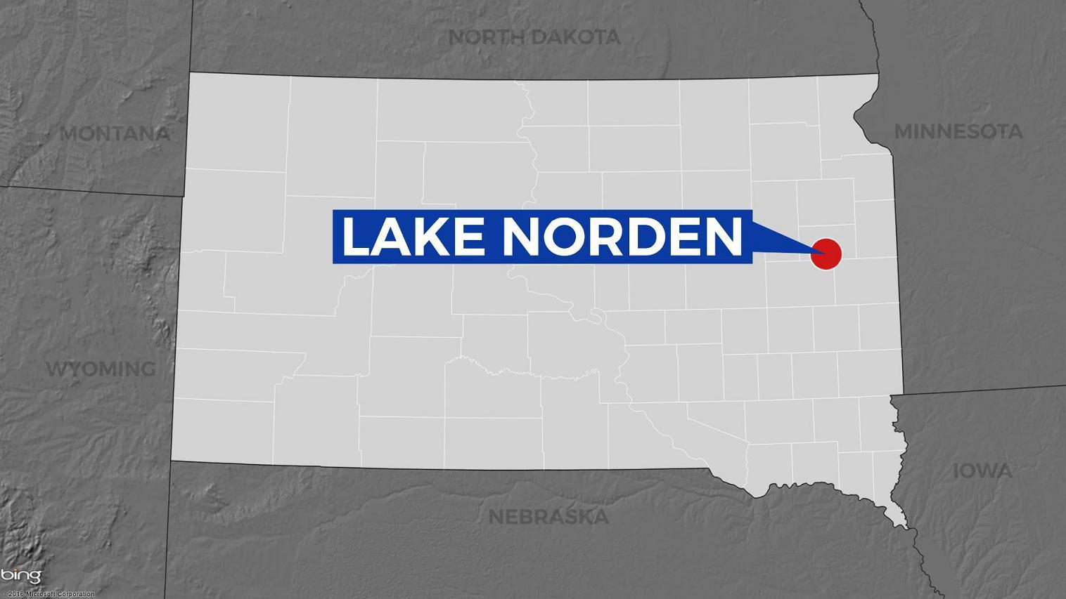 KELO Lake Norden South Dakota map