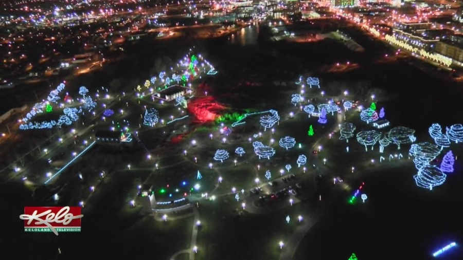 Flying Above Falls Park's Winter Wonderland
