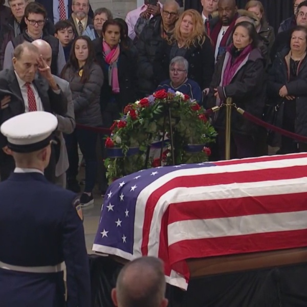 Americans Pay Their Respects To President George H.W. Bush At U.S. Capitol