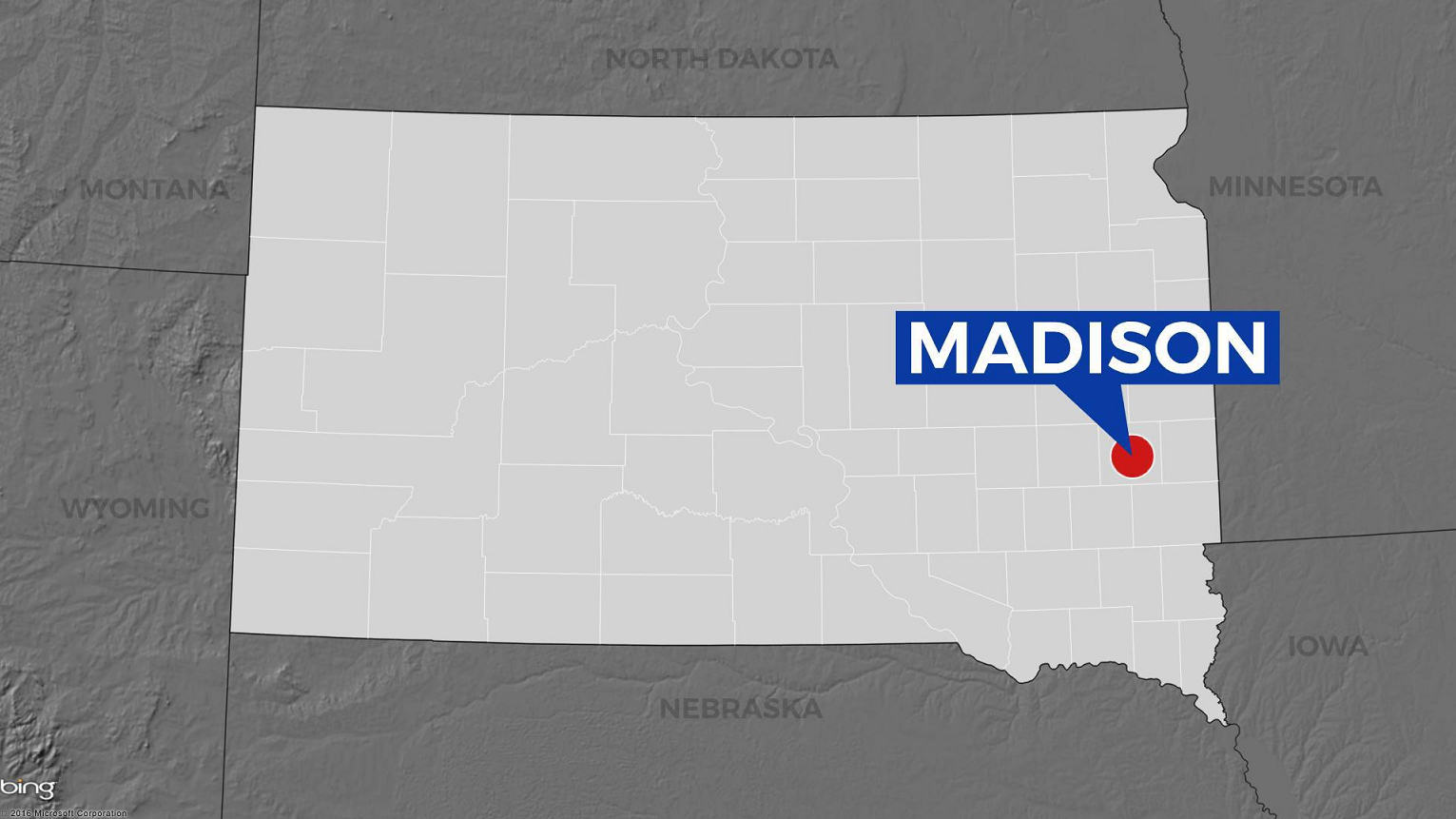 KELO Madison South Dakota locator map