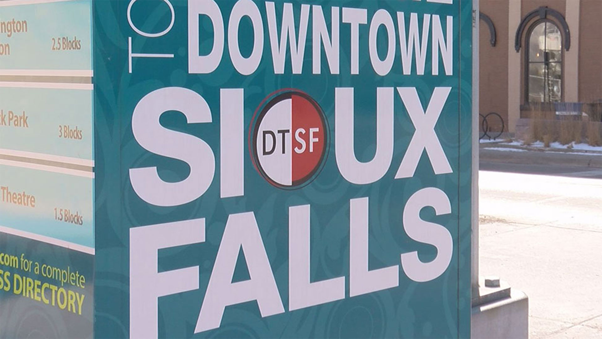 KELO Downtown Sioux Falls DTSF SNOW