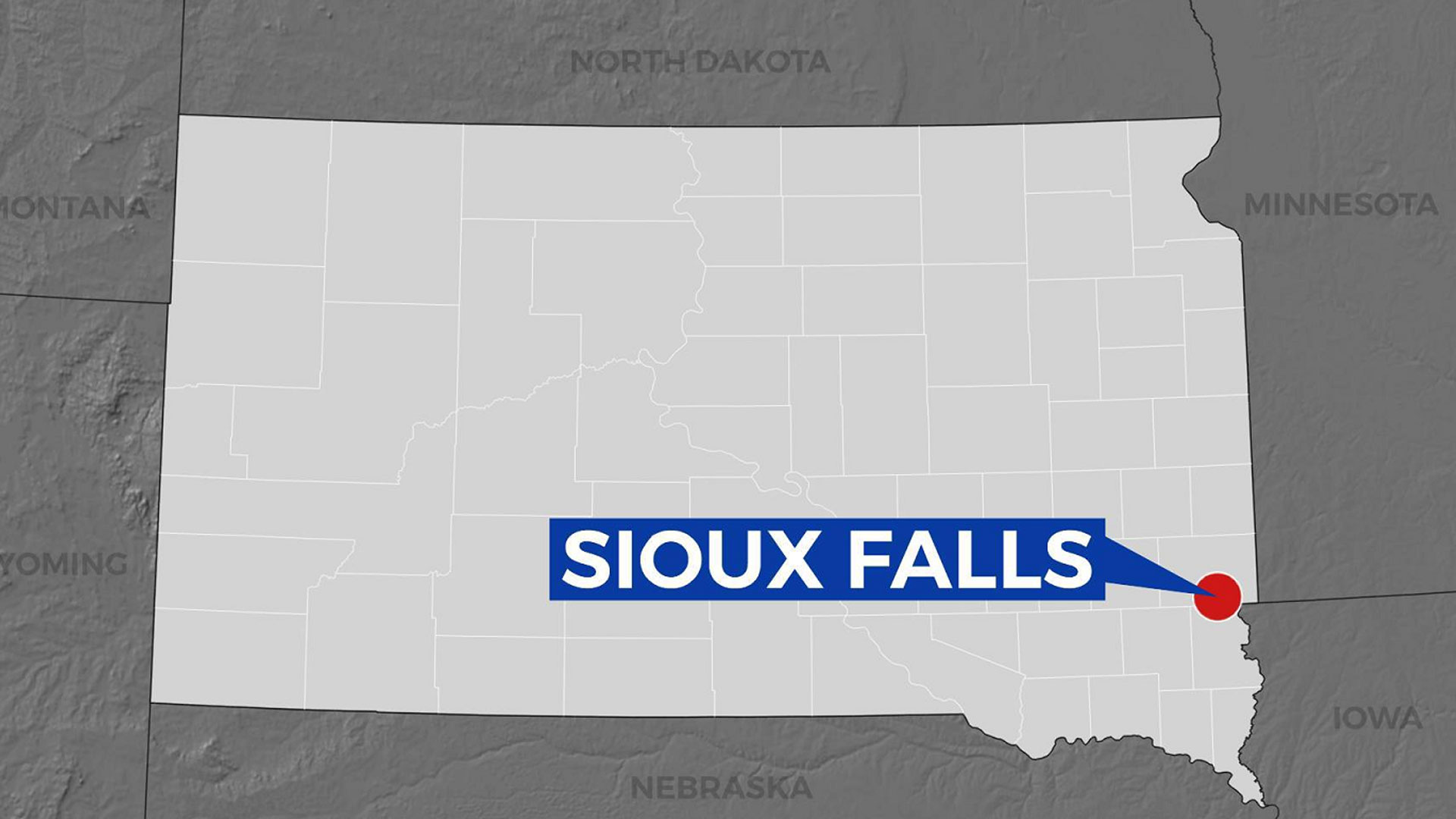 KELO Sioux Falls Map