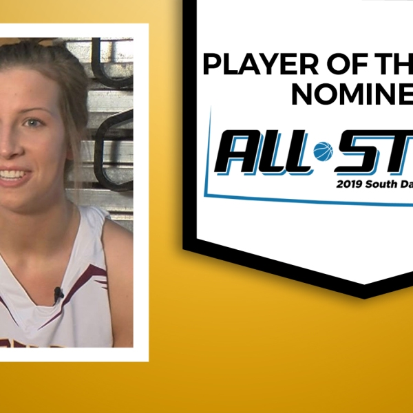 KELO Karly Gustafson Ethan2019 All Star Player of Year Nominee