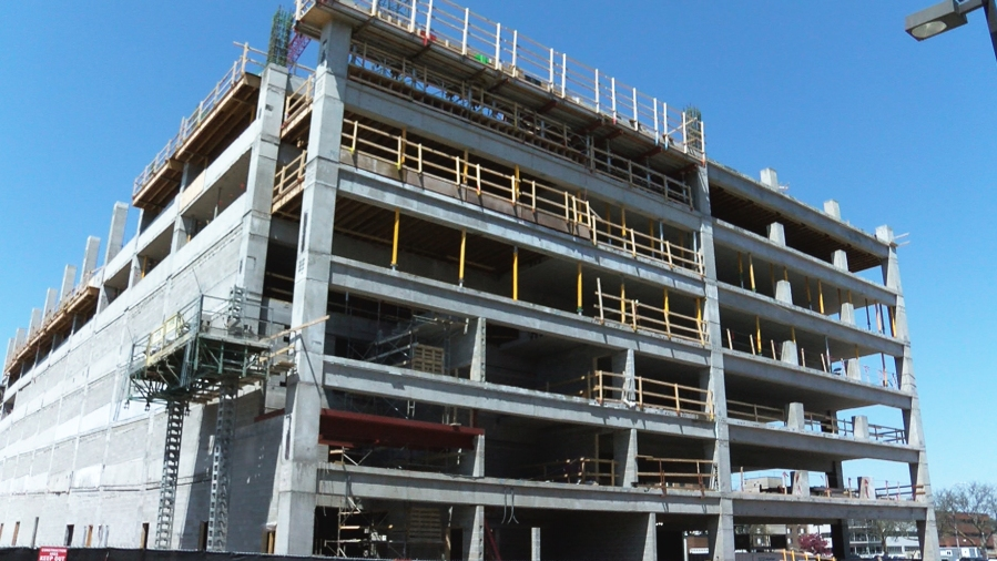 KELO parking ramp downtown Sioux Falls construction