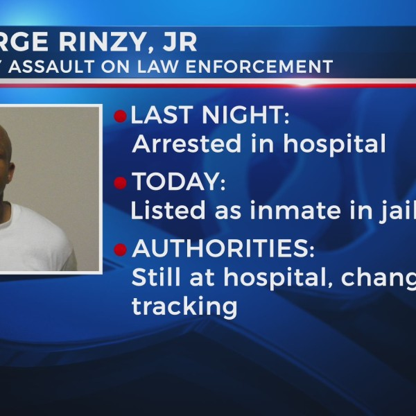 Rinzy Jr. arrested but still in hospital