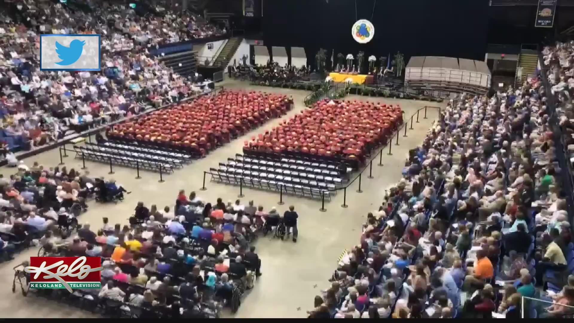Sioux Fallspublic schools hold their graduation ceremonies Sunday