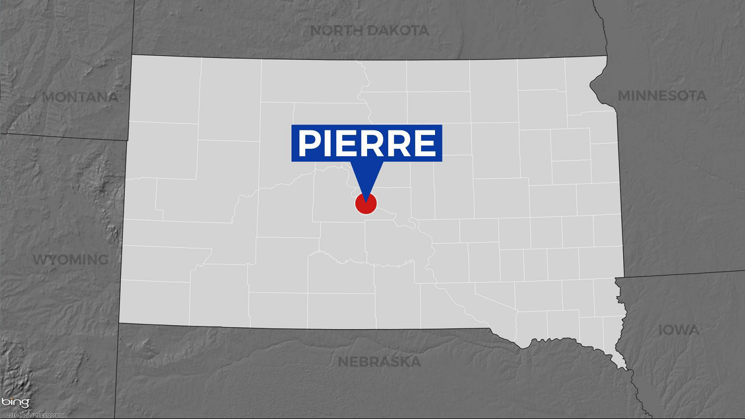 KELO Pierre map locator South Dakota