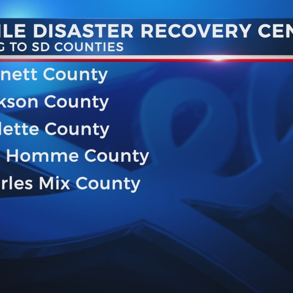 Mobile disaster recovery centers to open in five SD counties
