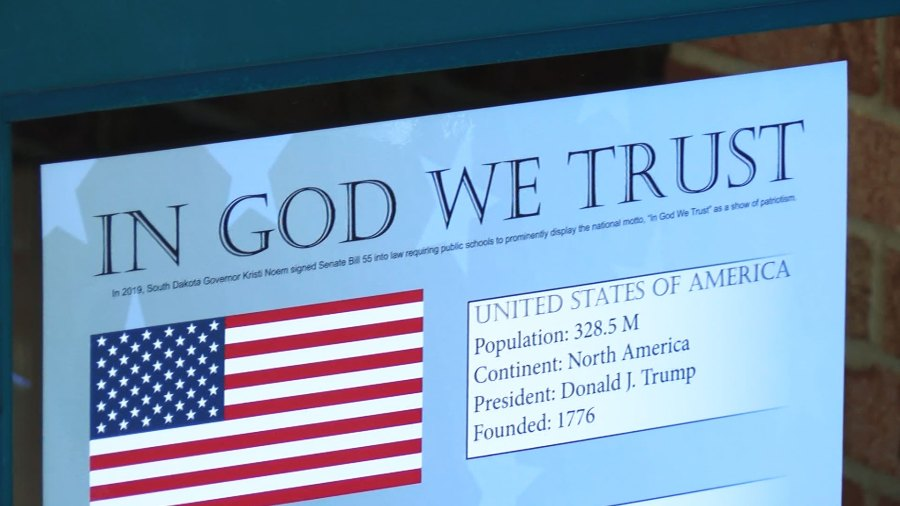 """SFSD finishes installing """"In God We Trust"""" signs 