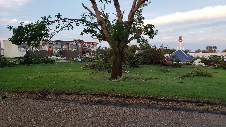 Storm damage in central South Dakota
