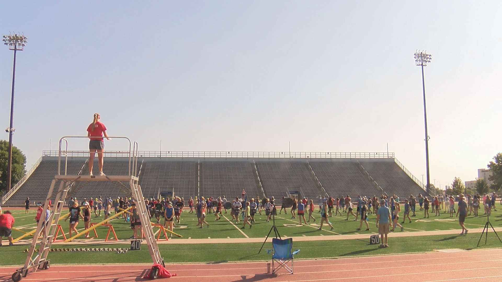 Marching band prepares for Saturday preview | KELOLAND com