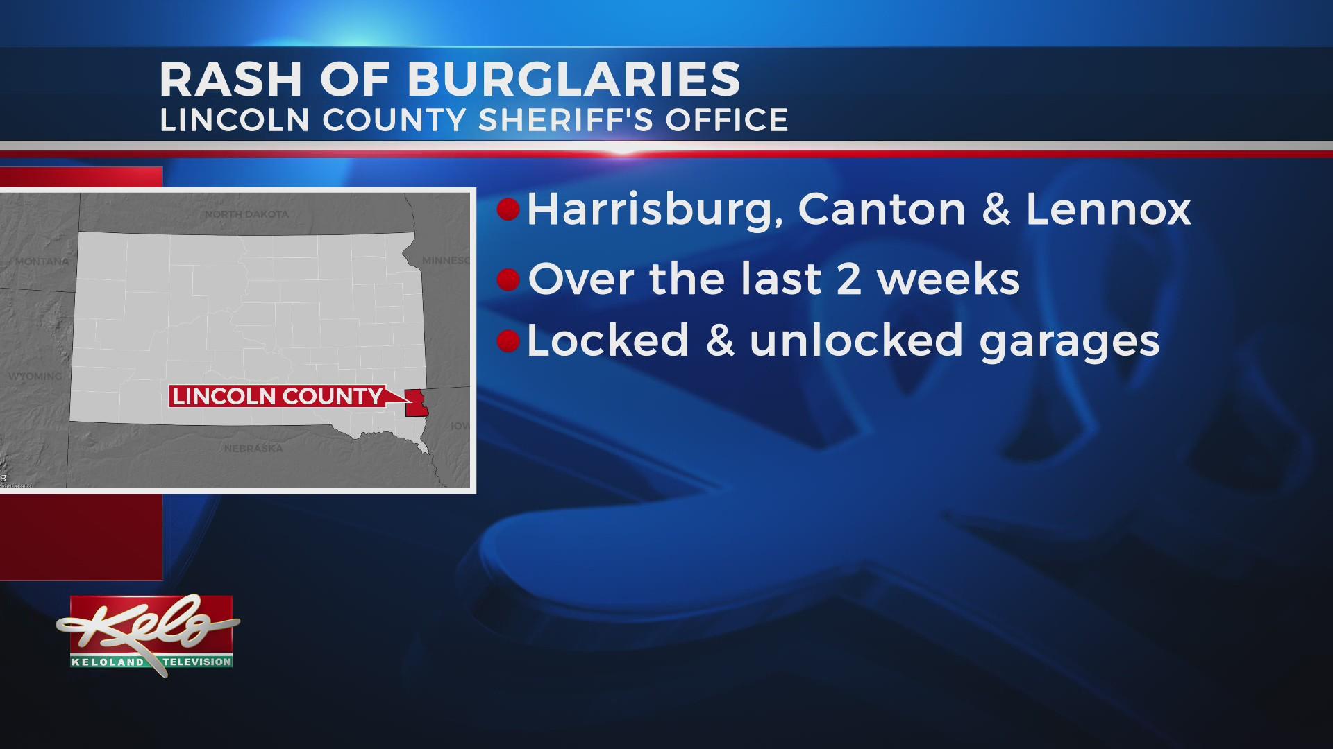 Lincoln County authorities investigating rash of burglaries