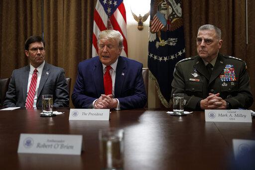 Donald Trump, Mark Milley, Mark Esper
