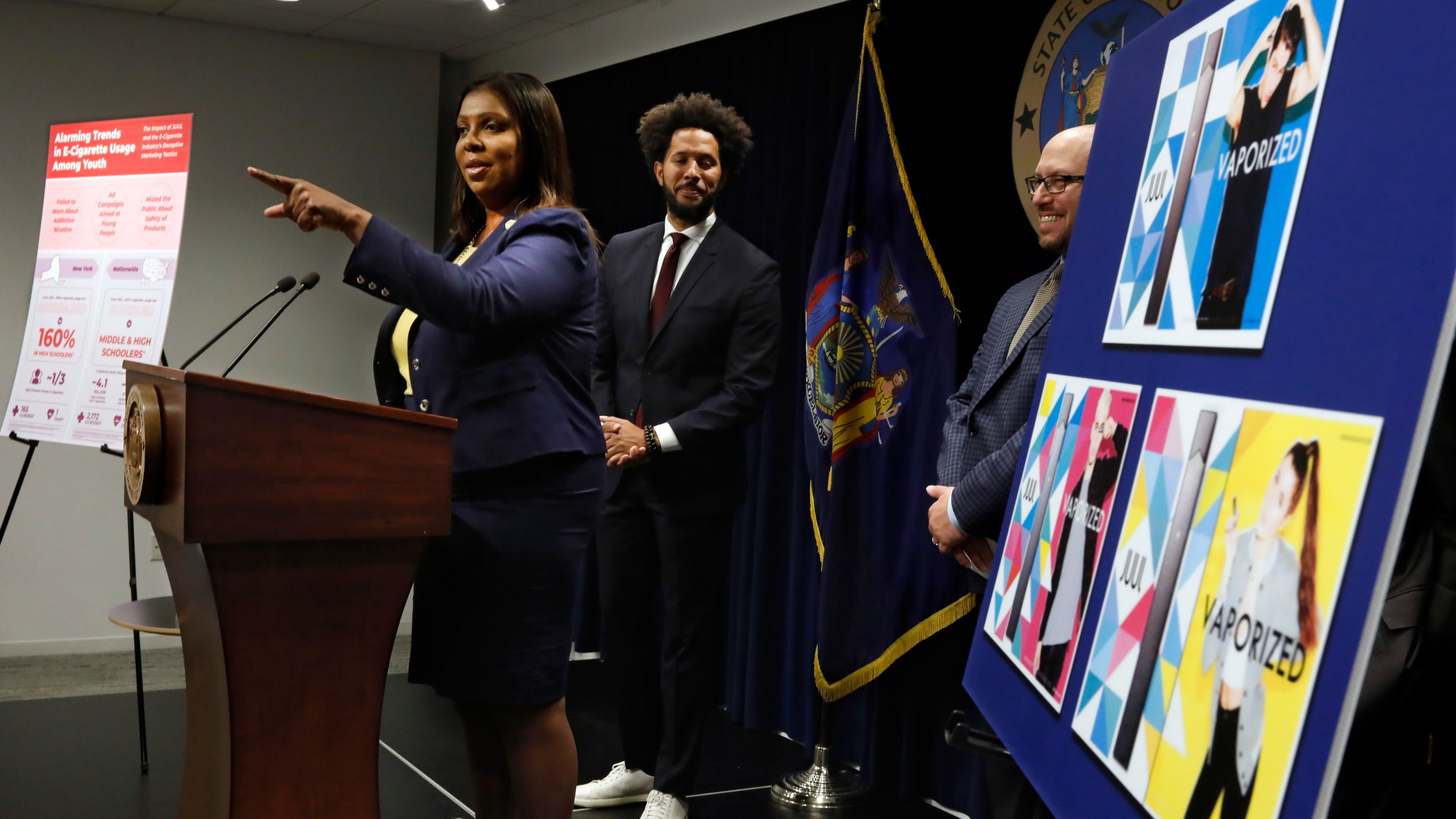 Letitia James, Andre Richardson, Adam FIne