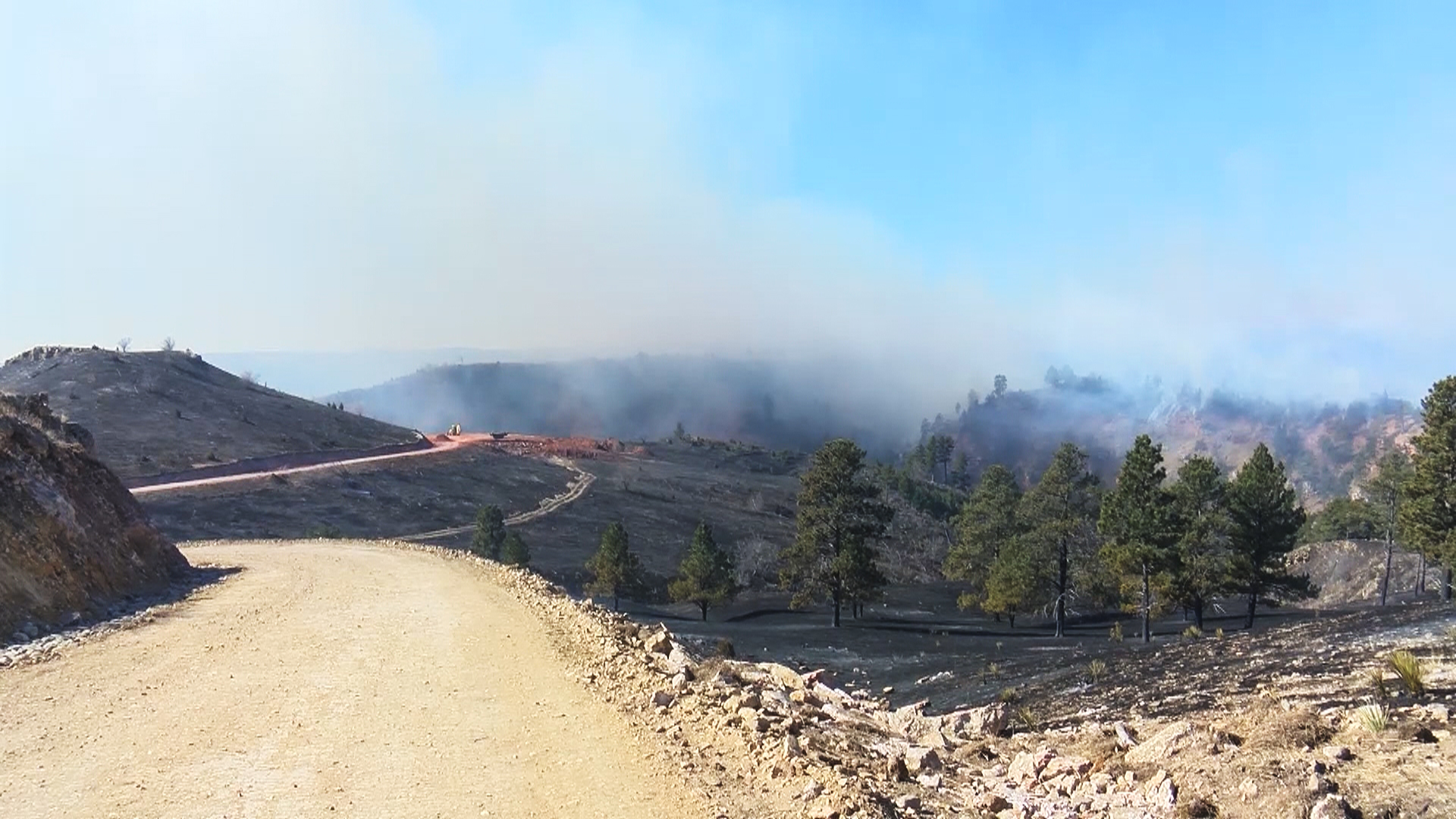 Day two of Schroeder fire near Rapid City