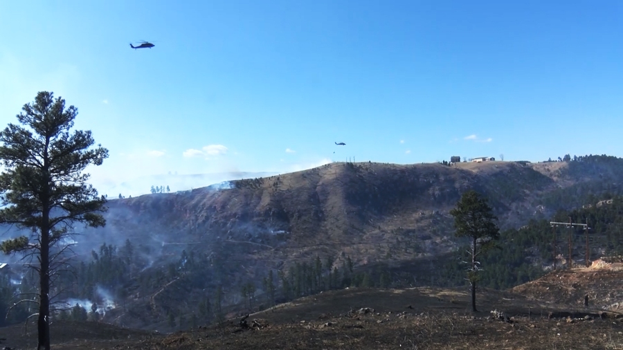 Helicopters join fight against Schroeder fire