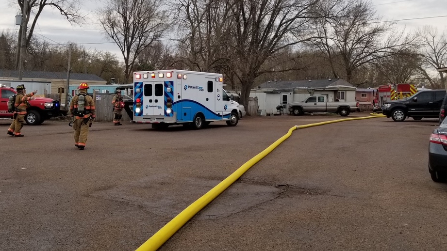Sioux Falls Fire Rescue responds to fire at trailer home